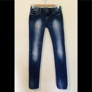 Rerock Express Distressed ripped Skinny Jeans 2